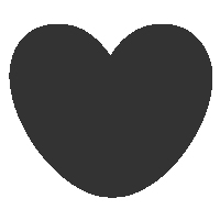 Rounded Heart Shape Icon
